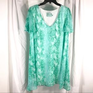 Judith March Gorgeous Green Layered Dress, size L